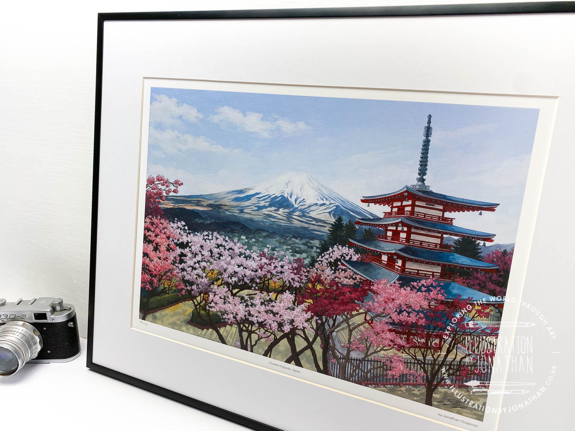 Chureito Pagoda Limited Edition Print