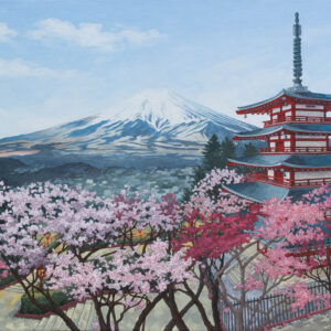 Chureito Pagoda Japan - Illustration by Jonathan Chapman