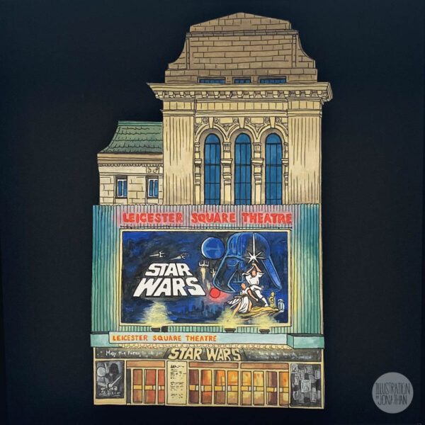 Leicester Square Theatre (May the 4th) - Illustration by Jonathan Chapman