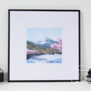 Mount Fuji Limited Edition Print - Illustration by Jonathan