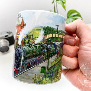 Ropley Station Coffee Mug Design