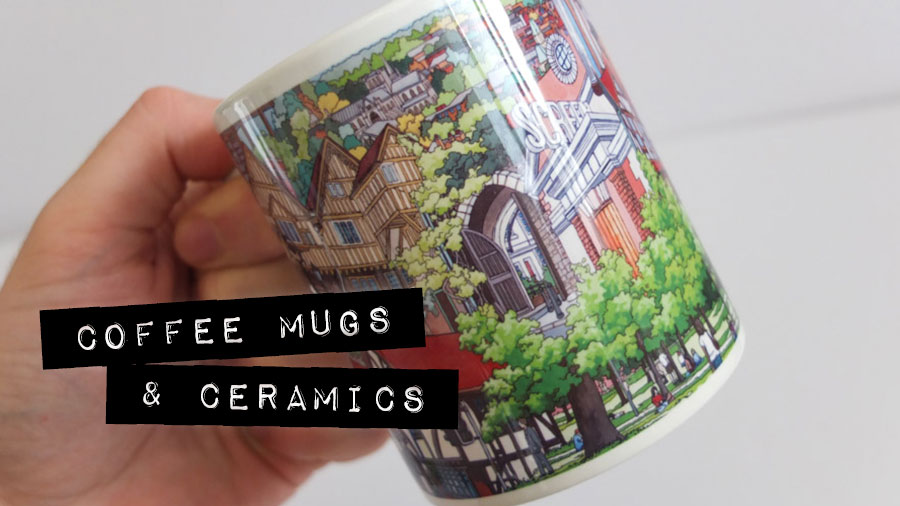 Coffe Mugs & Ceramics - Illustration by Jonathan