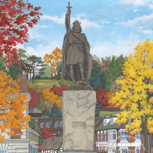 King Alfred in Autumn Postcard