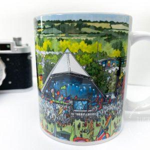 Pyramid Stage Glastonbury Coffee Mug