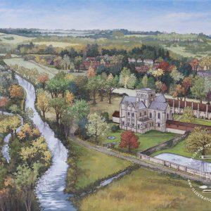 St Cross Landscape Original Artwork