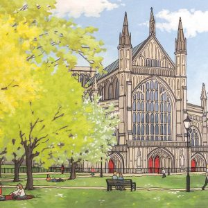 Winchester Cathedral in Spring Postcard