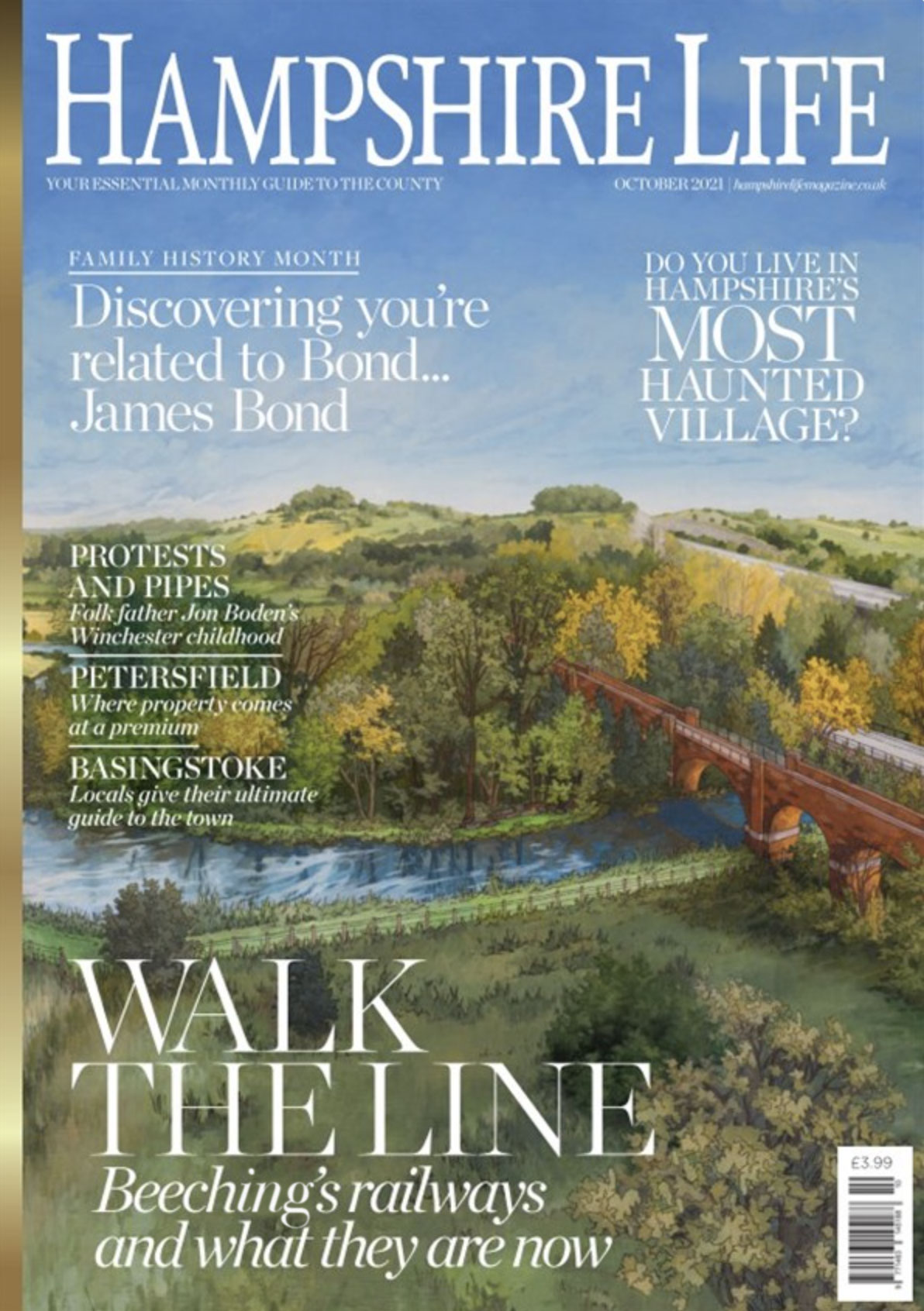 Hampshire Life Cover Featuring Illustration by Jonathan Chapman