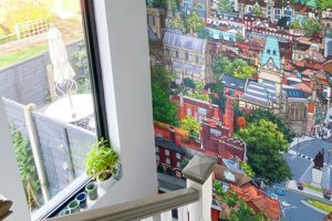 Wallpaper Mural – View From St Giles Hill